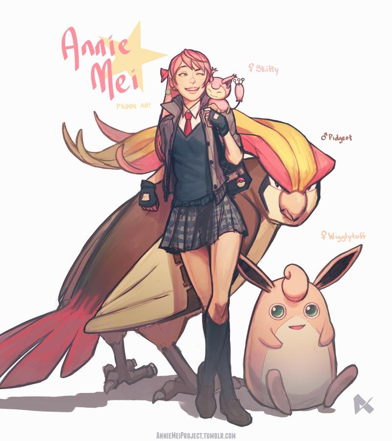 AMP|Pokemon AU Annie Mei by dCTb