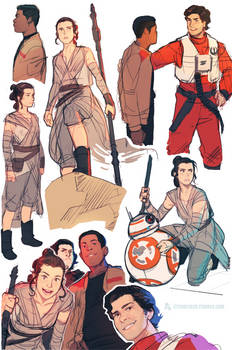 The Force Awakens Sketches