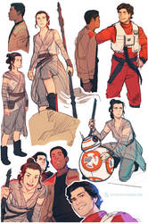 The Force Awakens|Sketches by dCTb