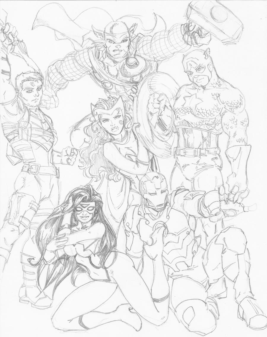 Avengers Sketch By Jetcomics On DeviantART