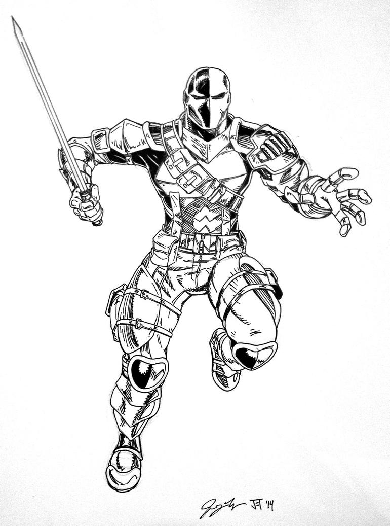 deathstroke arkham origins coloring pages
