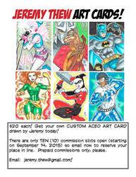 ACEO Commissions by jetcomics