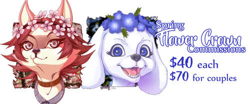 Spring Commissions! by myuinhiding