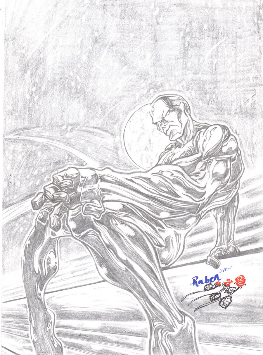 silver surfer coloring pages - silver surfer by acomicworld on deviantart