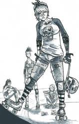 derby girls by comic-adam