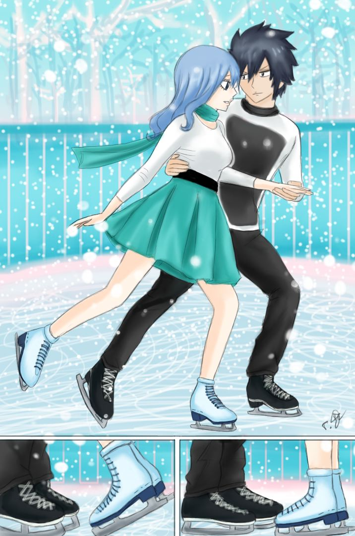 Gruvia fluff fest day 5 ice skating by chsabina on deviantart day 5 ice skating by chsabina voltagebd Choice Image