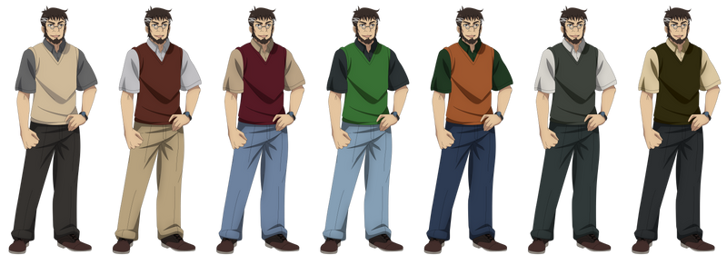 Makoto Sawada (Outfit Collage 1)