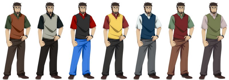 Makoto Sawada (Outfit Collage 2)