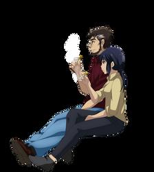 Makoto Sawada and Sachiko Fujinuma Smoking 2