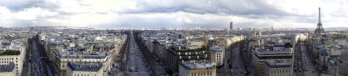 view from Arc de Triomphe by whohaugh