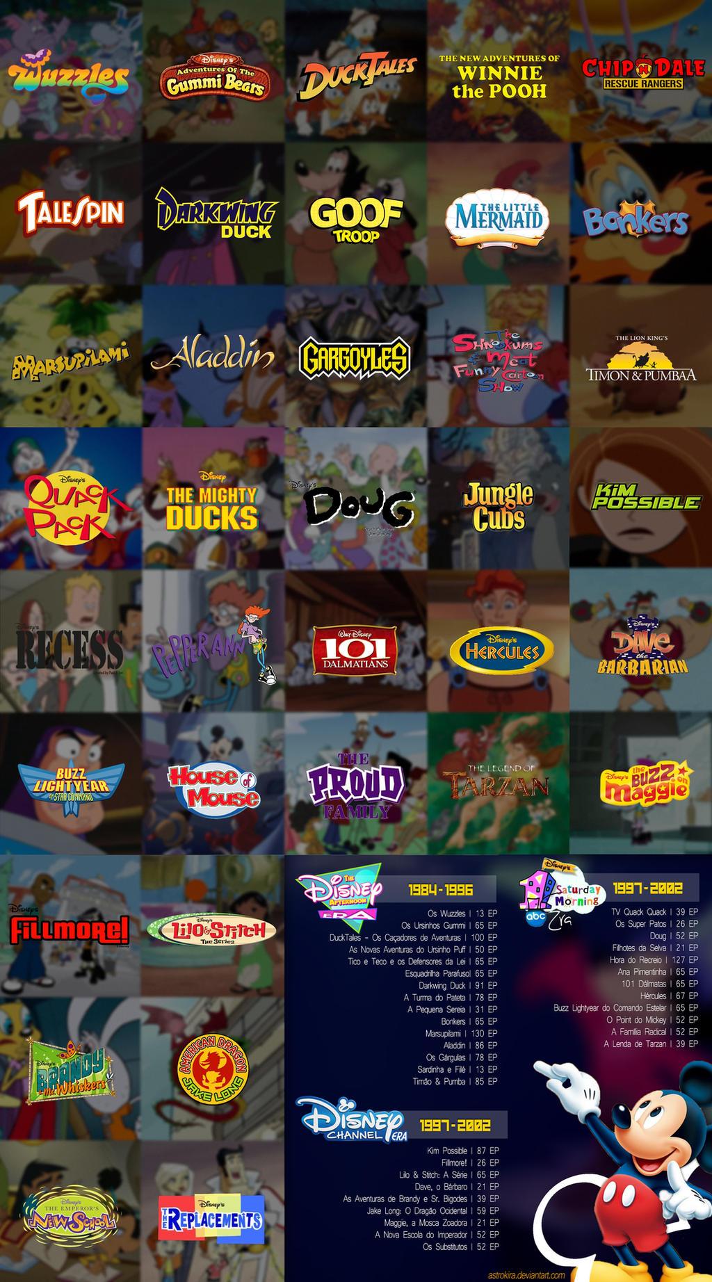 All The Original Disney Channel Cartoons By Astrokira On Deviantart