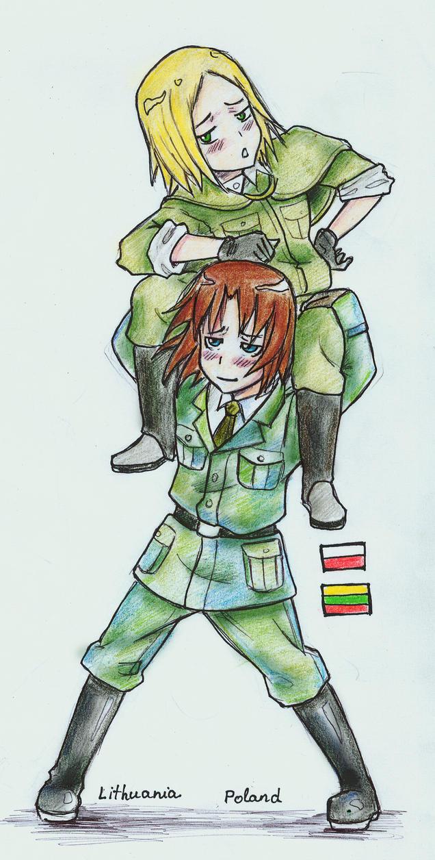 Lithuania Poland - hetalia by Kanda3egle