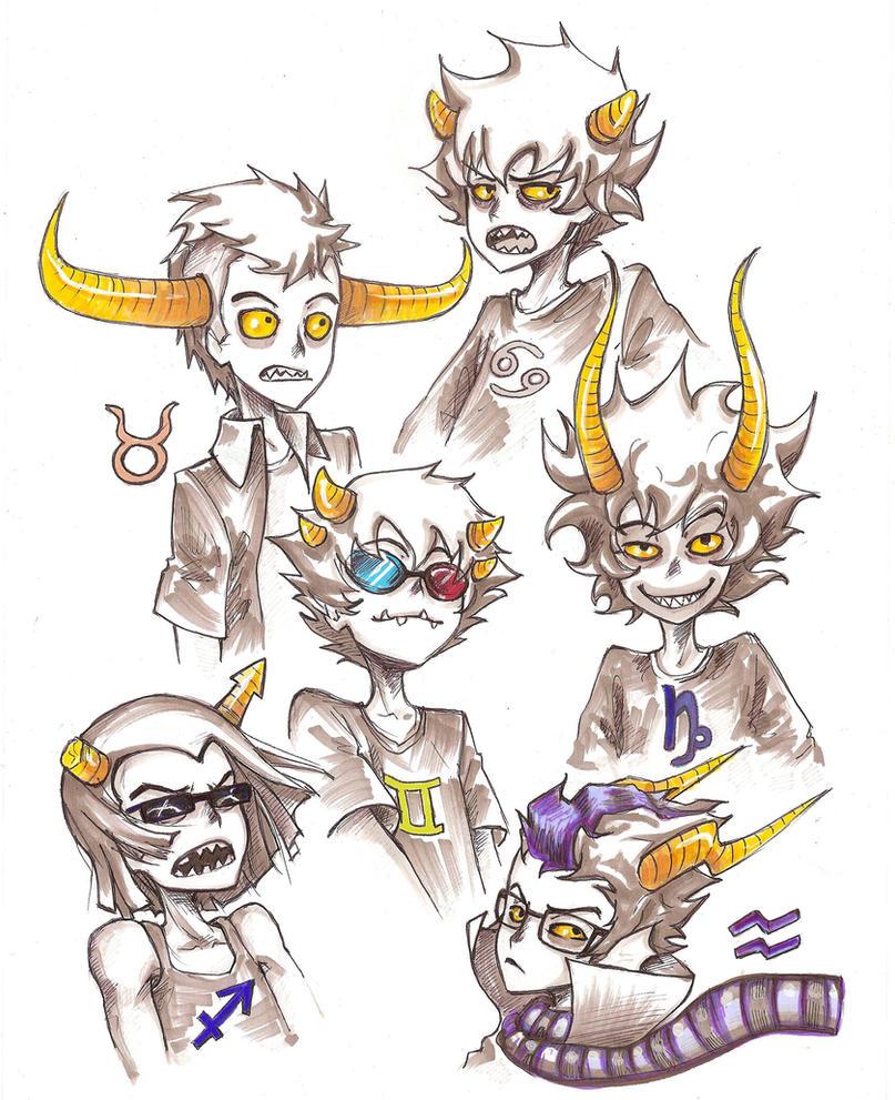 homestuck trolls by Kanda3egle