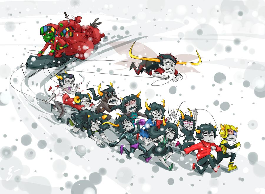Merry Christmas, Homestuck by Kanda3egle