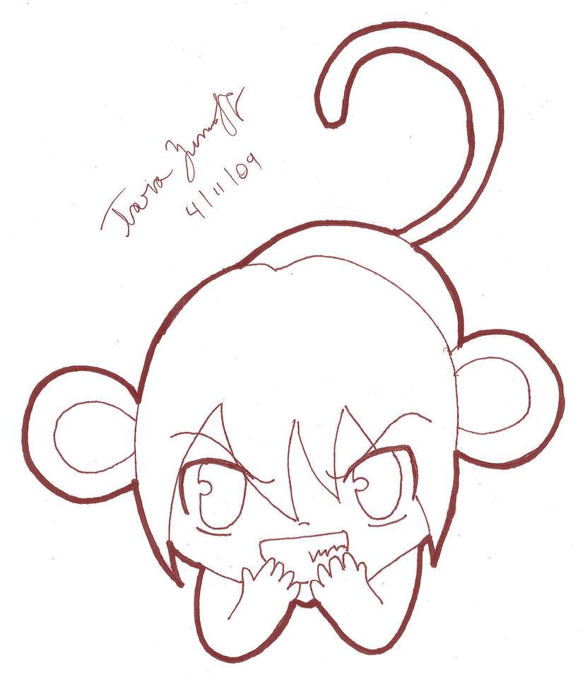 Line Art Monkey : Chinese zodiac monkey line art by tblondie on deviantart