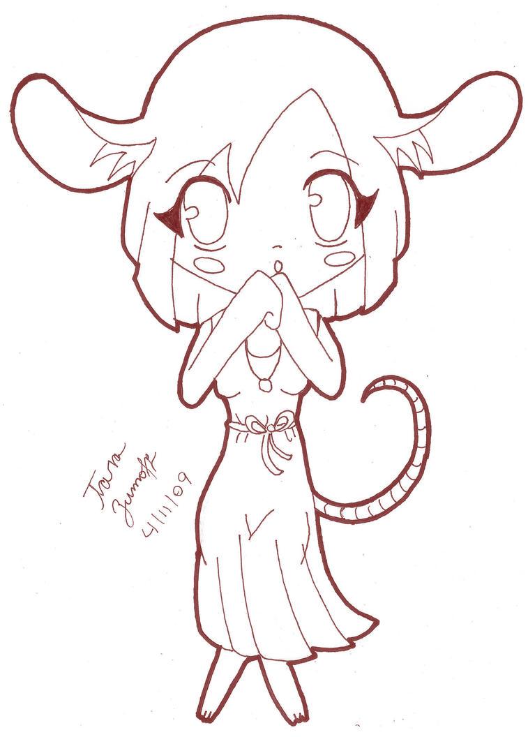 Line Art Rat : Chinese zodiac rat line art by tblondie on deviantart