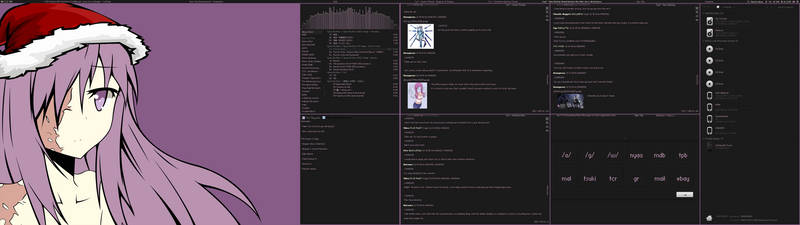 Purple Christmas Hanako 12/22/12 by nomnomking