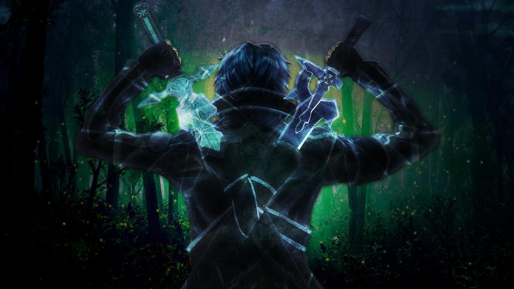 Sword Art Online Kirito Wallpaper By Vortrixs
