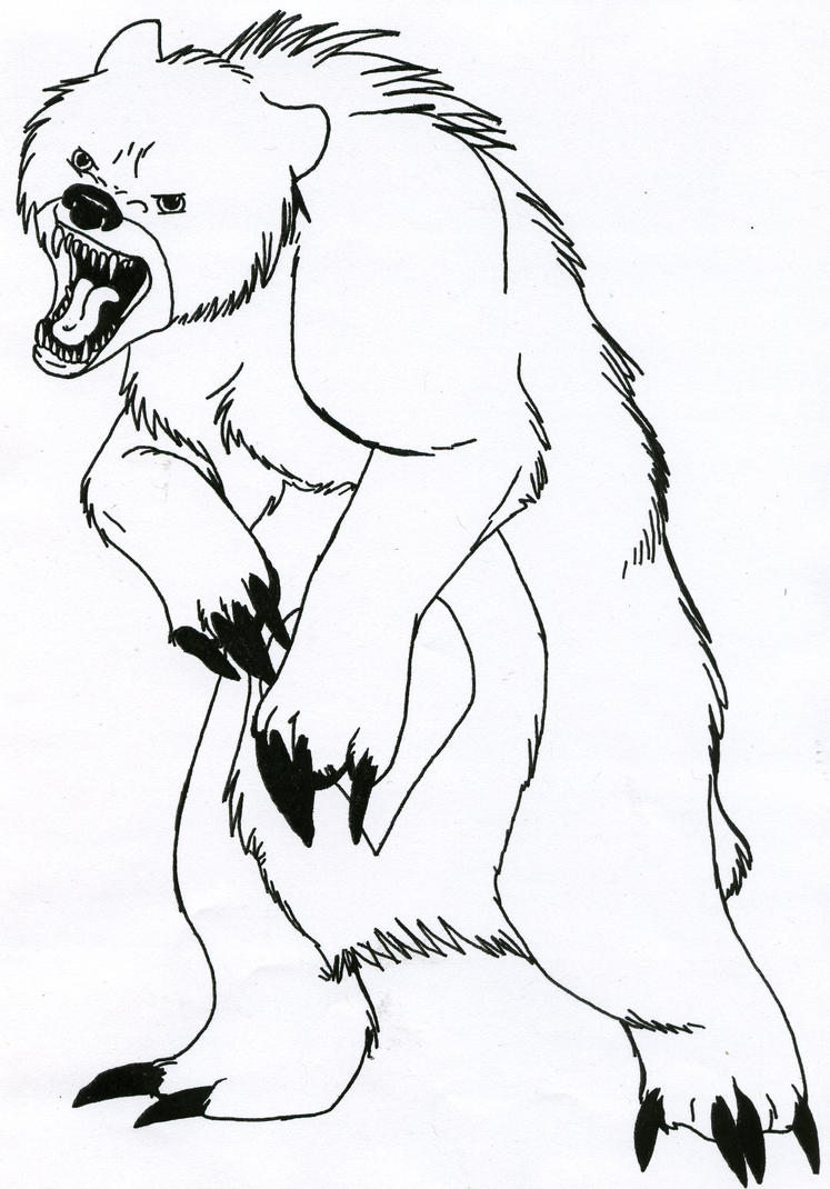 Animal Colouring Page Template besides Coloriage Winnie Prepare La Citrouille D Halloween as well Scary Clown Coloring Pages additionally People likewise Oso Coloring Page. on scary bear video
