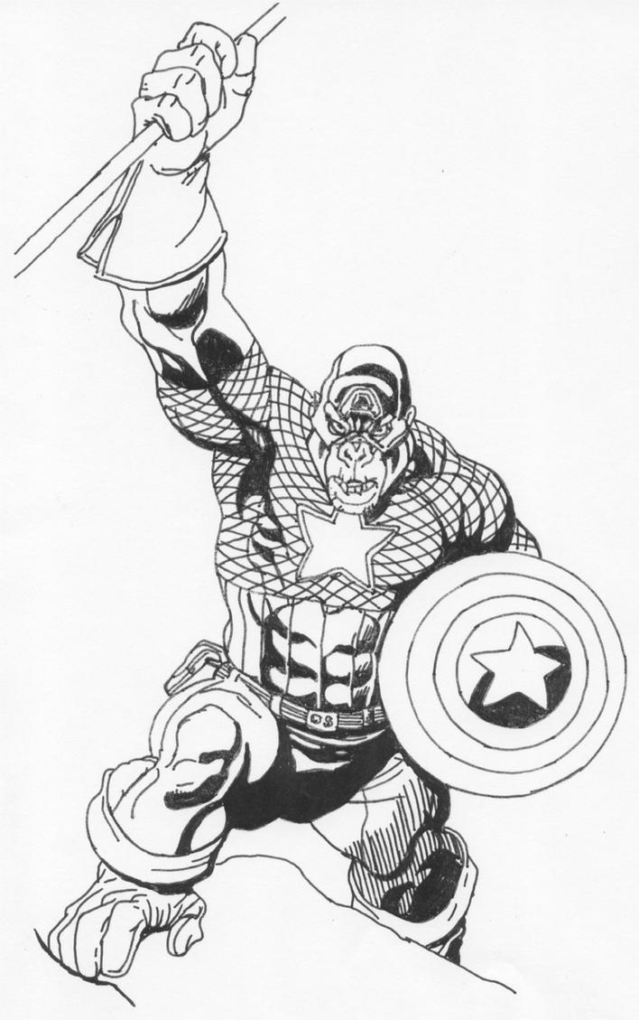 Captain America as Gorilla by Stonegate on DeviantArt