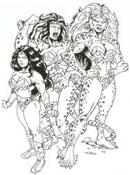 Wonder Woman into Cheetah by Stonegate