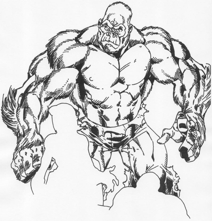Angry Silverback Gorilla Drawing - photo#46
