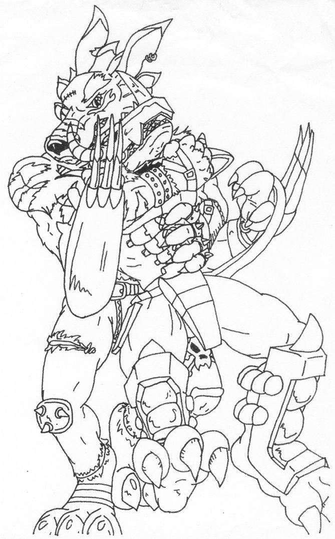 digimon weregarurumon coloring pages | Digimon Wrestle by Teaselbone by Stonegate on DeviantArt