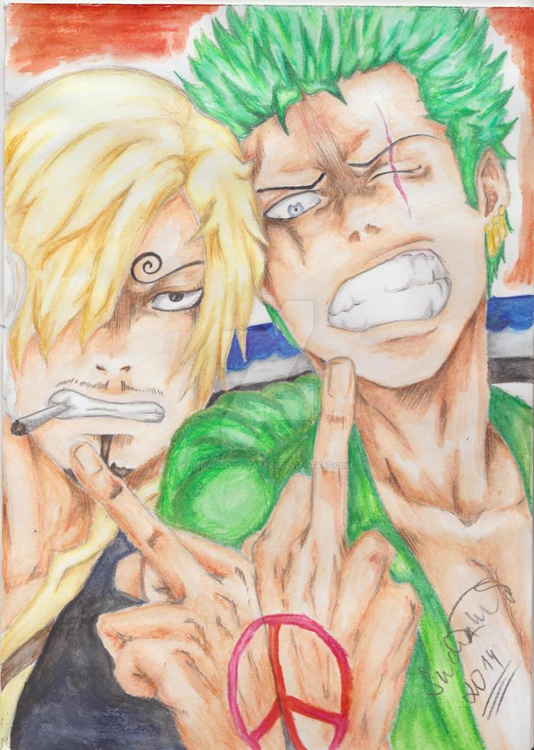 One Piece: Sanji and Zoro by NeoAngeliqueAbyss