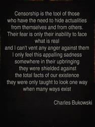 Bukowski on censorship by deepblank
