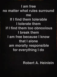 'I am Free' Robert A. Heinlein by deepblank