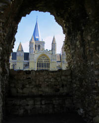 Rochester Cathedral From the Castle wall by deepblank