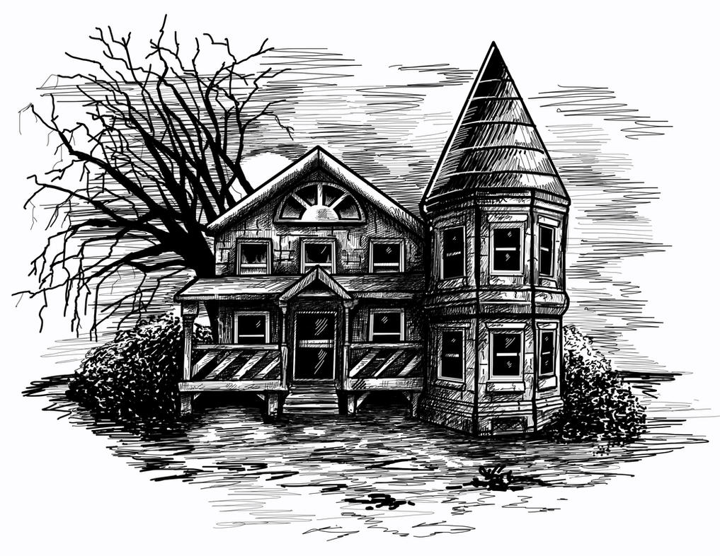 Spooky House sketch by 06Mallard