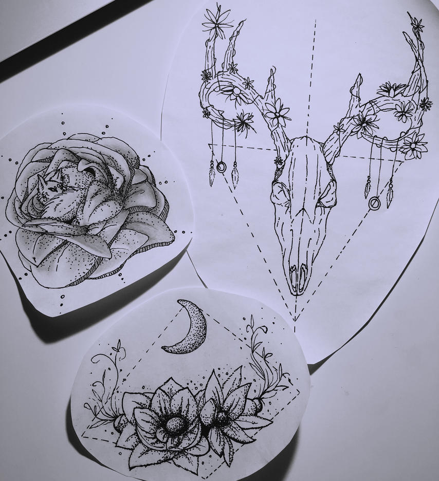 Tattoo artwork style by Ammyse