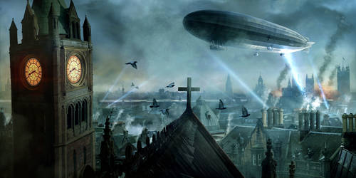 Zeppelins over London by ChrisRawlins