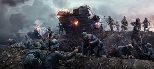 Battle of Cambrai - Attack on Gauche Wood by ChrisRawlins