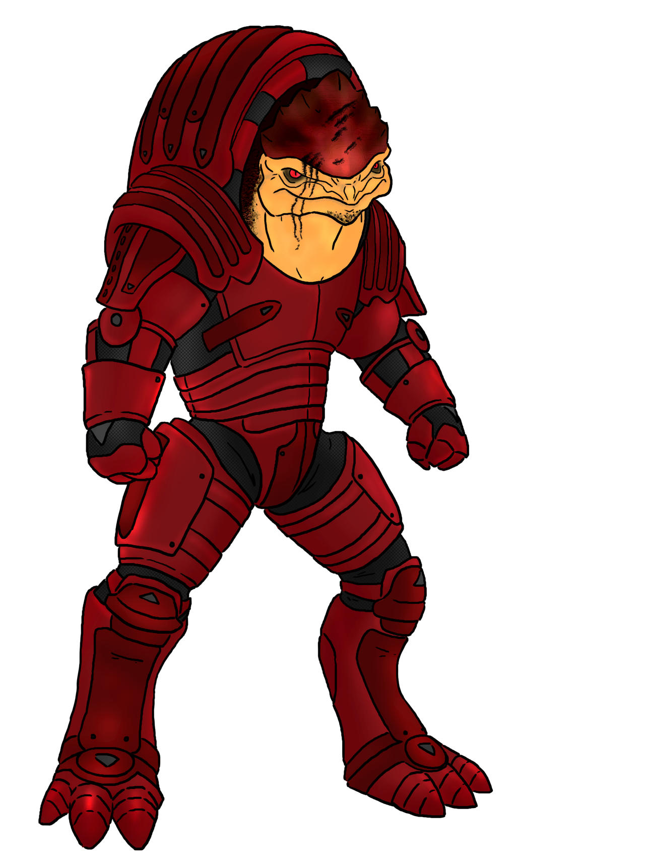 Mass Effect Wrex by HerpDerp187