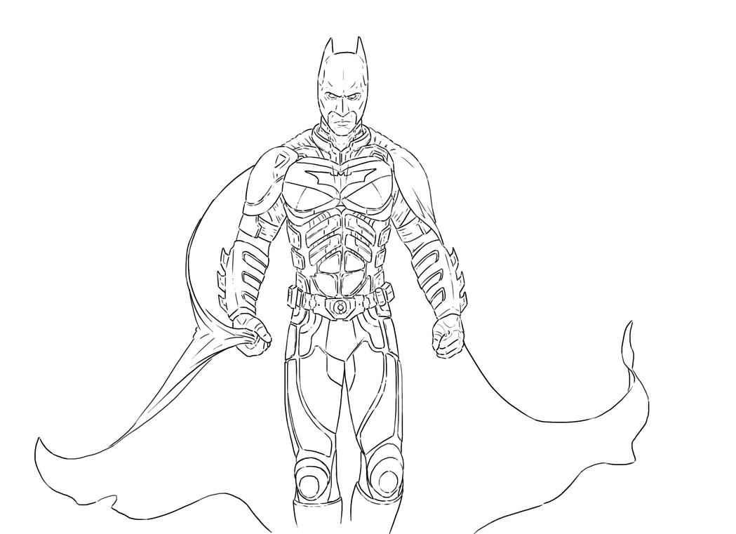 Dark knight rises coloring pages ~ The Dark Knight Outlines by HerpDerp187 on DeviantArt