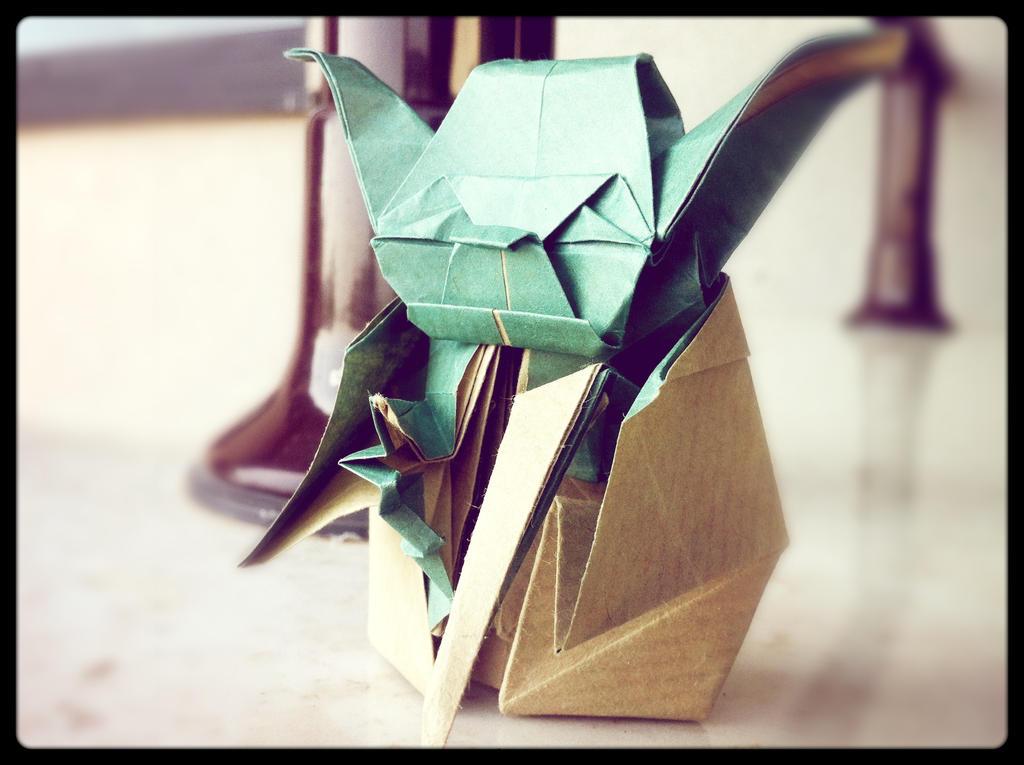 Origami Master Yoda Take Two By Kiddophoto On Deviantart