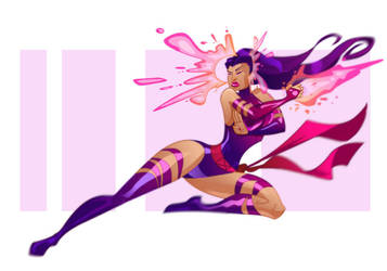 Psylocke by pushfighter