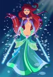 Jedi Ariel by pushfighter