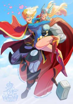 DC/Marvel: Kara and Thor