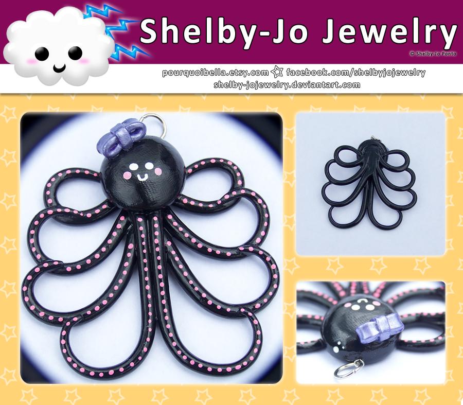 Black Octopus Pendant by Shelby-JoJewelry