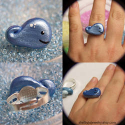 Whale Ring II by NaughtyBirdBoutique