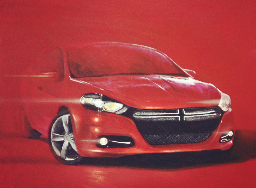 Dodge Dart on Red (Traditional) by khuon