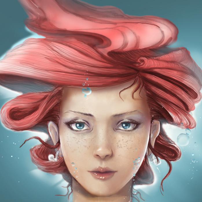 Ariel under water by khuon