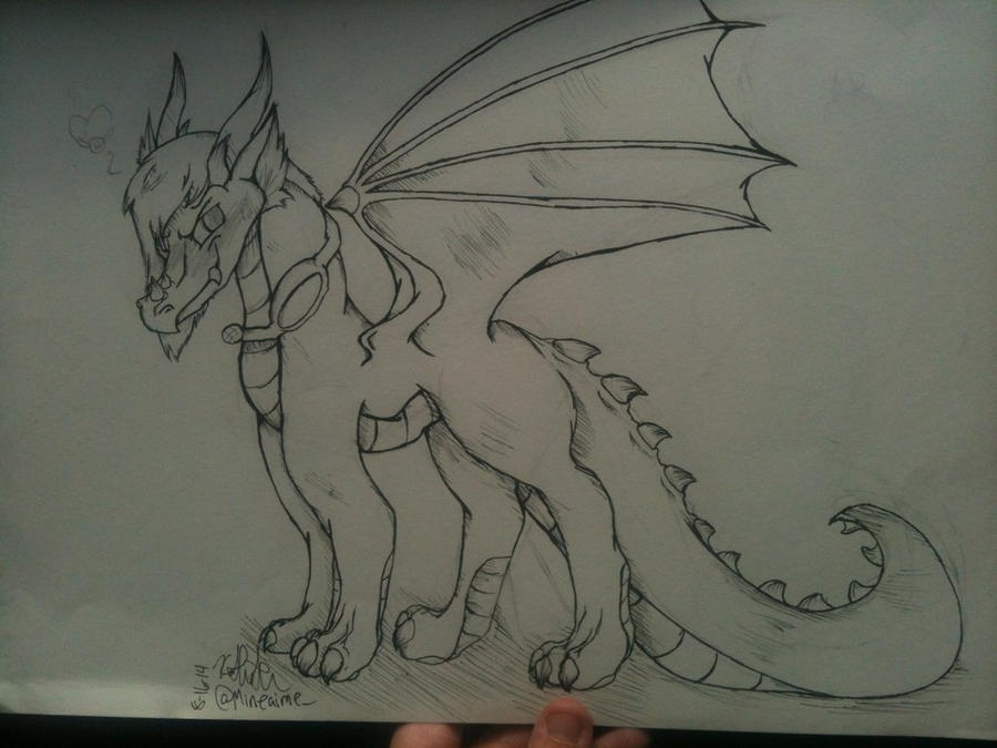 Enderlox Dragon Lineart by Mineaime on DeviantArt