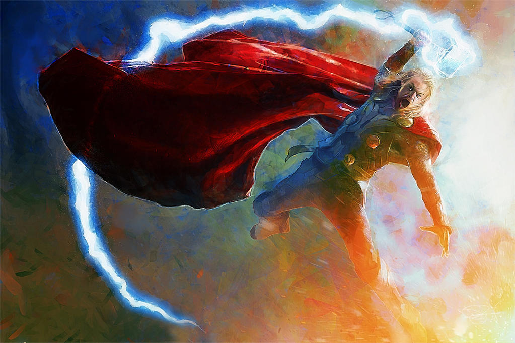 The Mighty Thor by DanielMurrayART