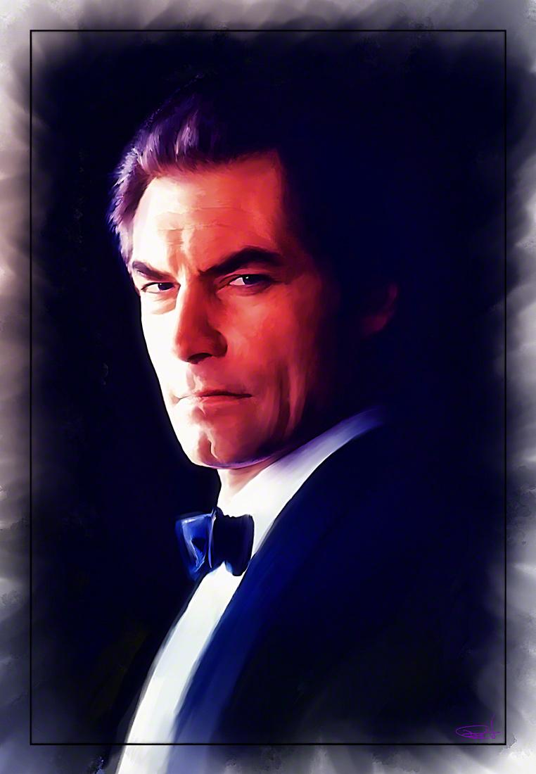 Timothy Dalton as 007 by DanielMurrayART