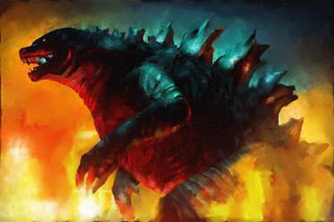 Godzilla by DanielMurrayART