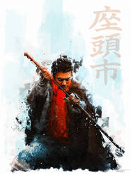 The blind swordsman, Zatoichi by DanielMurrayART